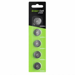 5x Lithium Green Cell CR2032 3V 220mAh Batteries