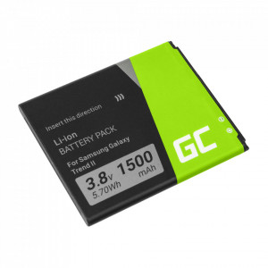 Green Cell Smartphone Battery EB425161LU for Samsung Galaxy Ace 2 Trend S Duos S3 Mini