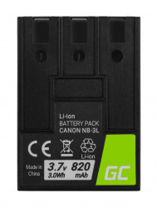 Baterie camera foto NB-3L NB3L pentru Canon Digital IXUS II, PowerShot SD100, IXY Digital 600 3.7V 820mAh