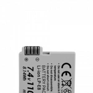 Baterie camera foto pentru LP-E8 ® Canon EOS Rebel T2i, T3i, T4i, T5i, EOS 600D, 550D, 650D, 700D, Kiss X5, X4, X6 7.4V 1100mAh