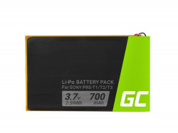Battery Green Cell® 1-853-104-11 for Sony Portable Reader System PRS-T1, PRS-T2 oraz PRS-T3