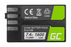 Baterie camera foto D-Li109 DLi109 pentru Pentax K-r, K-2, K-30, K-50, K-500, K-S1, K-S2 7.4V 1600mAh