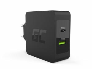 Incarcator USB-C 30W PD cu port USB QC3.0 si cablu USB-C pentru Apple MacBook 12, Lenovo Yoga Tab 3 Plus si others