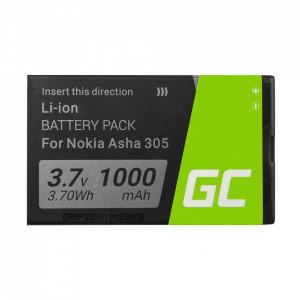 Green Cell Smartphone Battery BL-4U BL4U for Nokia 6600 E66 E75 ASHA 210 220 501
