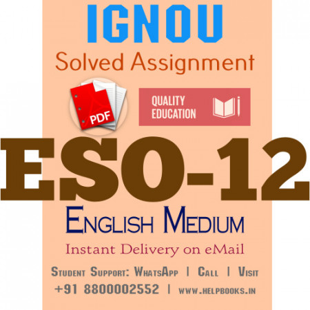 Download ESO12 IGNOU Solved Assignment 2020-2021 (English Medium)