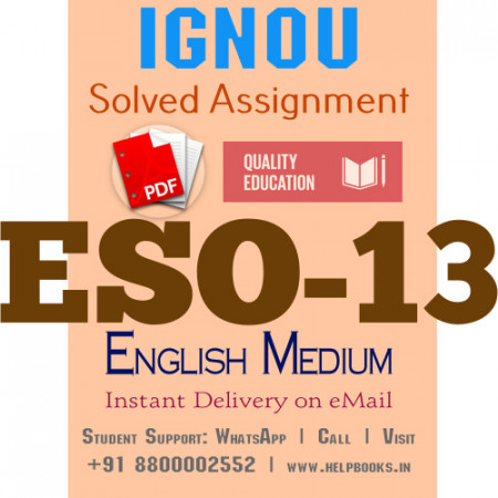 Download ESO13 IGNOU Solved Assignment 2020-2021 (English Medium)