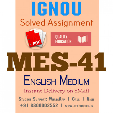Download MES-041 IGNOU B.ed IGNOU Solved Assignment 2020-2021 (English Medium)