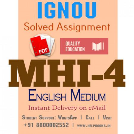 Download MHI4 IGNOU Solved Assignment 2020-2021 (English Medium)
