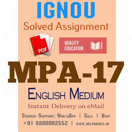 Download MPA17 IGNOU Solved Assignment 2020-2021 (English Medium)