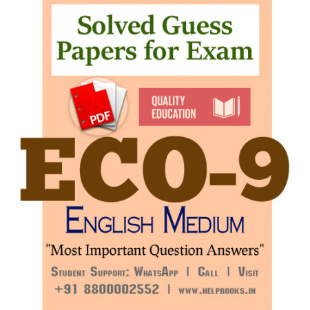 ECO9 IGNOU Solved Sample Papers/Most Important Questions Answers for Exam-English Medium