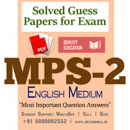 MPS2 IGNOU Solved Sample Papers/Most Important Questions Answers for Exam-English Medium