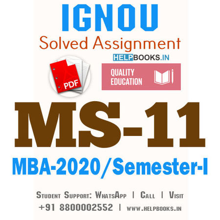 MS11-IGNOU MBA Solved Assignment 2020/Semester-I (Strategic Management)