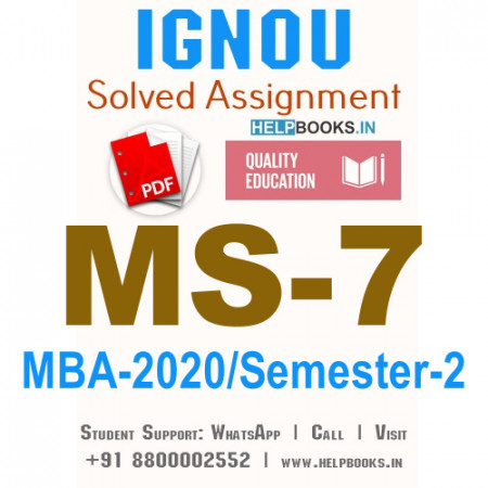 MS7-IGNOU MBA Solved Assignment 2020/Semester-II (Information Systems for Managers)