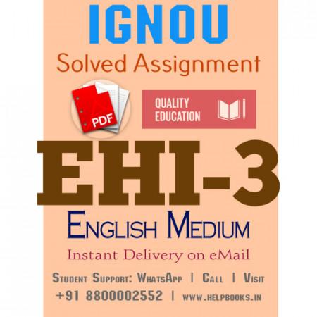 Download EHI3 IGNOU Solved Assignment 2020-2021 (English Medium)