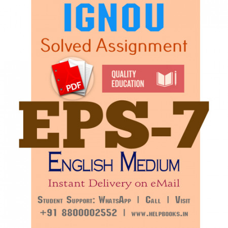 Download EPS7 IGNOU Solved Assignment 2020-2021 (English Medium)