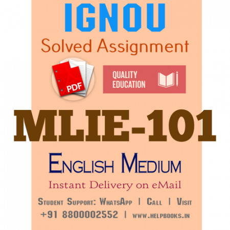 Download MLIE101 IGNOU Solved Assignment 2020-2021 (English Medium)