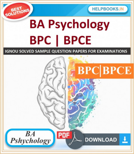 IGNOU BA Psychology Solved Assignments-BPC/BPCE | e-Assignment Copy | 2019-2020