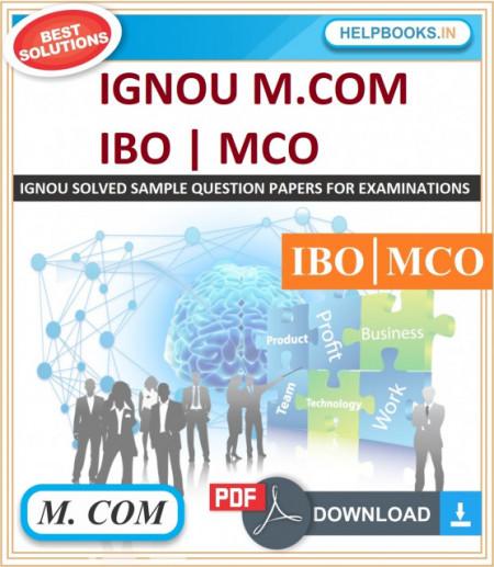 IGNOU M.COM Solved Assignments-IBO & MCO   e-Assignment Copy   2020-21