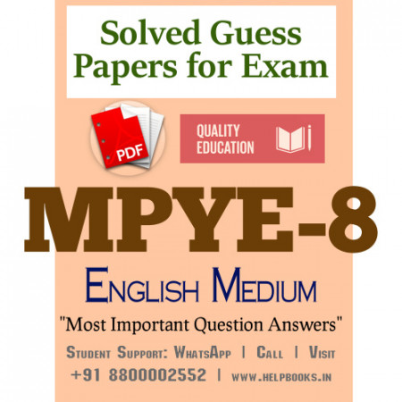 MPYE8 IGNOU Solved Sample Papers/Most Important Questions Answers for Exam
