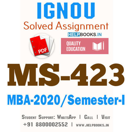 MS423-IGNOU MBA Solved Assignment 2020/Semester-I (Marketing of Financial Services)