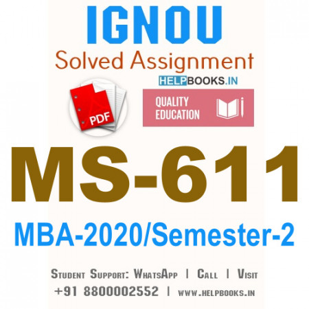MS611-IGNOU MBA Solved Assignment 2020/Semester-II (Rural Marketing)