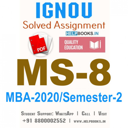 MS8-IGNOU MBA Solved Assignment 2020/Semester-II (Quantitative Analysis for Managerial Applications)