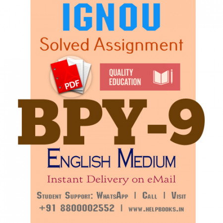 Download BPY9 IGNOU Solved Assignment 2020-2021 (English Medium)