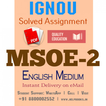 Download MSOE2 IGNOU Solved Assignment 2020-2021 (English Medium)