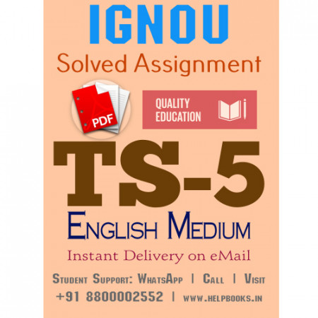 Download TS5 IGNOU Solved Assignment 2020-2021 (English Medium)