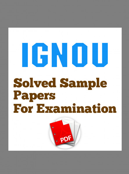 EPA3 IGNOU Solved Sample Papers/Most Important Questions Answers for Exam-English Medium