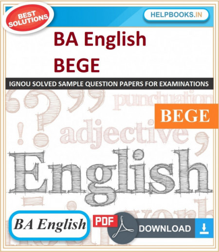 IGNOU BA English Elective Solved Assignments-BEGE | e-Assignment Copy | 2020-21