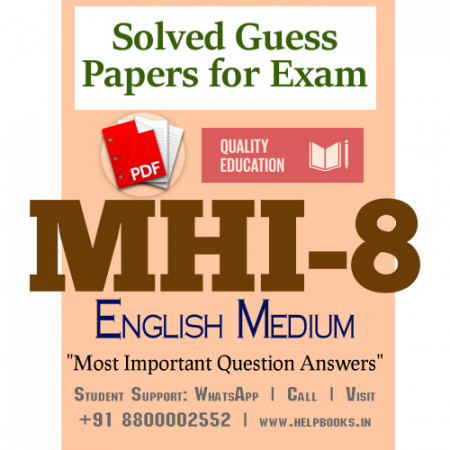 MHI8 IGNOU Solved Sample Papers/Most Important Questions Answers for Exam-English Medium