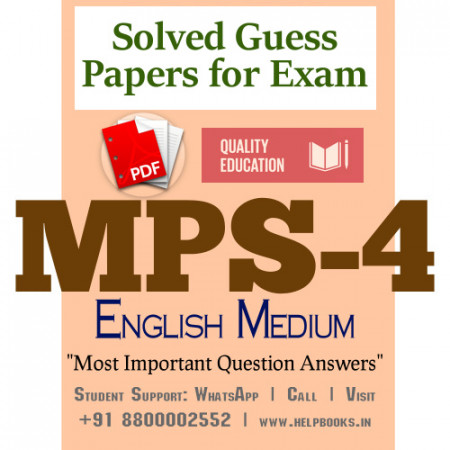 MPS4 IGNOU Solved Sample Papers/Most Important Questions Answers for Exam-English Medium