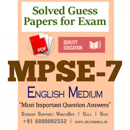 MPSE7 IGNOU Solved Sample Papers/Most Important Questions Answers for Exam-English Medium