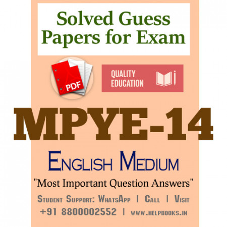 MPYE14 IGNOU Solved Sample Papers/Most Important Questions Answers for Exam
