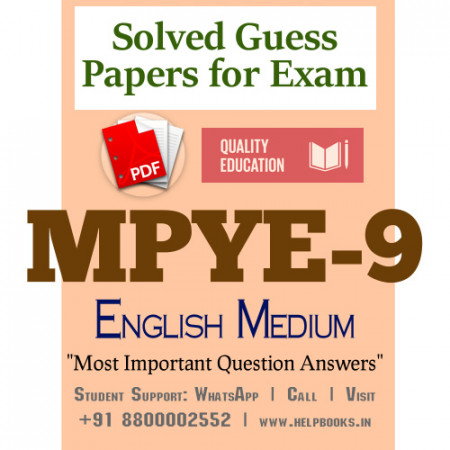 MPYE9 IGNOU Solved Sample Papers/Most Important Questions Answers for Exam