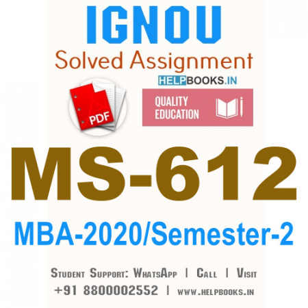 MS612-IGNOU MBA Solved Assignment 2020/Semester-II (Retail Management)