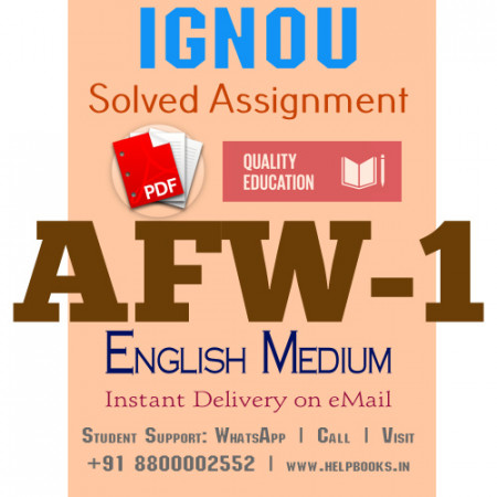 Download AFW1 IGNOU Solved Assignment 2020-2021