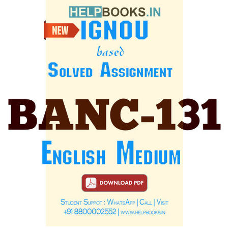 Download BANC131 Solved Assignment 2020-2021 (English Medium)-Anthropology and Research Methods