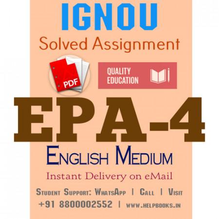 Download EPA4 IGNOU Solved Assignment 2020-2021 (English Medium)
