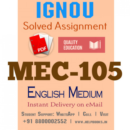 Download MEC105 IGNOU Solved Assignment 2020-2021 (English Medium)
