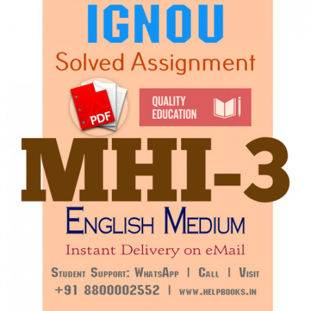 Download MHI3 IGNOU Solved Assignment 2020-2021 (English Medium)