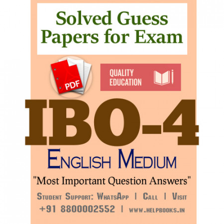 IBO4 IGNOU Solved Sample Papers/Most Important Questions Answers for Exam-English Medium