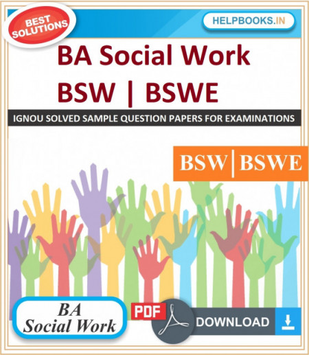 IGNOU BA Social Work Solved Assignments-BSW | BSWE | e-Assignment Copy | 2020-21