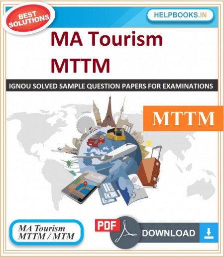 IGNOU Master of Tourism and Travel Management Solved Assignments | e-Assignment Copy | 2020-21-MTM/MTTM