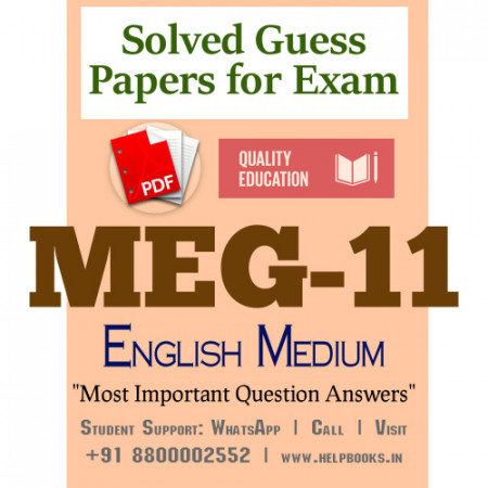 MEG11 IGNOU Solved Sample Papers/Most Important Questions Answers for Exam
