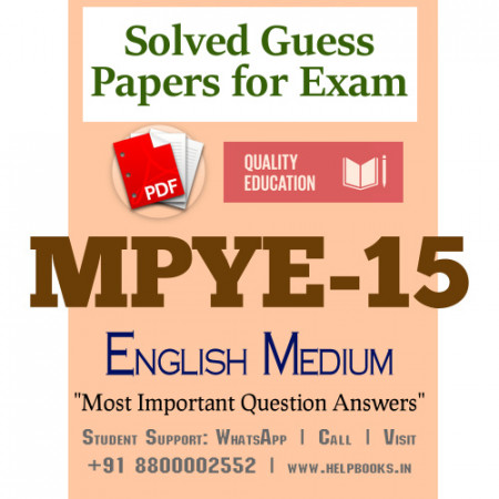 MPYE15 IGNOU Solved Sample Papers/Most Important Questions Answers for Exam