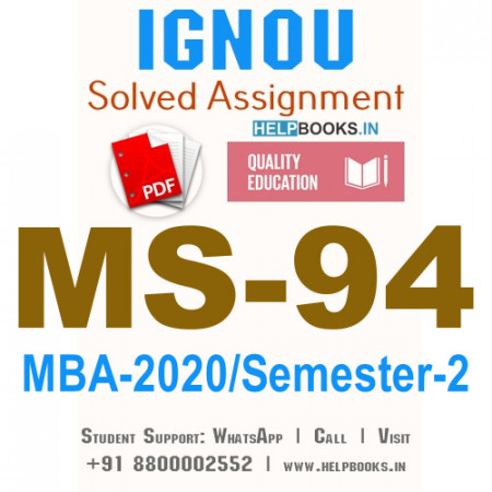 MS94-IGNOU MBA Solved Assignment 2020/Semester-II (Technology Management)