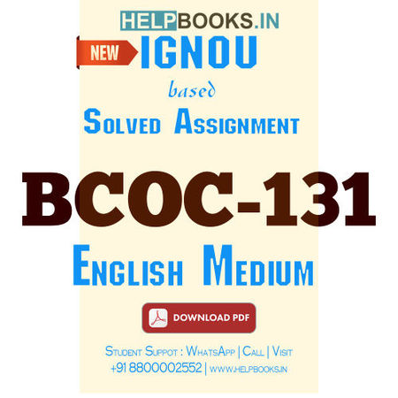 Download BCOC131 Solved Assignment 2020-2021 (English Medium)-Financial Accounting