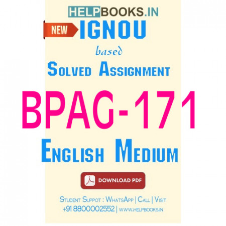 Download BPAG171 Solved Assignment 2020-2021 (English Medium)-Disaster Management BPAG-171